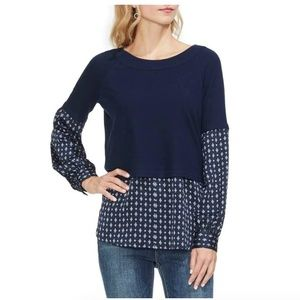 Vince Camuto || Layered - Look Top || Classic Navy